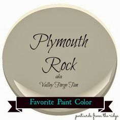 Postcards from the Ridge: Benjamin Moore Plymouth Rock aka Valley Forge Tan