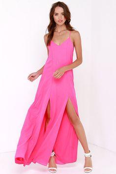 Plume Oneself Hot Pink Maxi Dress