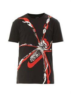 Spider-print T-shirt