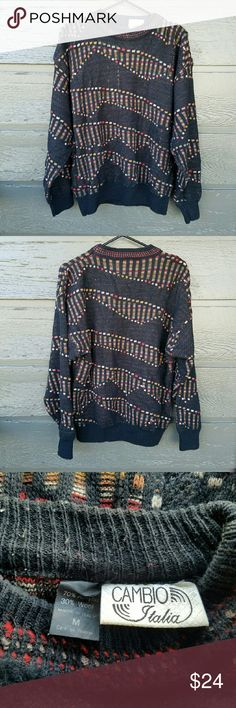 Vintage Cambio Italia Oversized Sweater Gorgeous design! Excellent condition  Feel free to ask me any additional questions! Bundles 3+ 15% off. Happy Poshing! No trades, or modeling. Vintage Sweaters