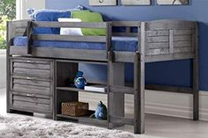Napoli Low Loft Twin Bed With 6 Drawer Storage