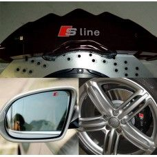 4 pcs Durable RS Sline S line emblem logo Car PVC Race Trim Sticker Caliper Disc Brake wheel cylinder For Audi Audi A4, Emblem Logo, Interior Accessories, Courses, Automobile, Racing, Stickers, Cars, Drag Race Cars
