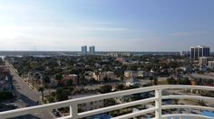 A nice view of Daytona Beach from the hotel suite balcony - sunny and 80 is perfect for November!