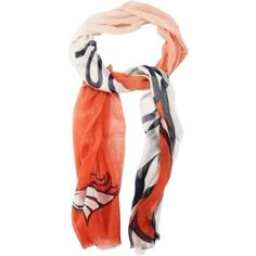 Denver Broncos Ladies Gradient Scarf - Orange/White