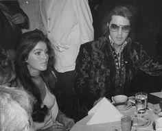 Elvis Presley and Priscilla. From the Pinterest board of George Vreeland Hill.