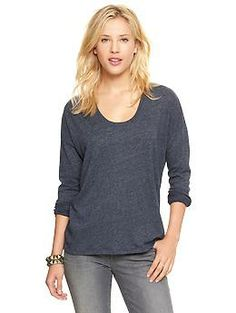 Circle-hem T | Gap - Navy, Purple or Taupe - Size M