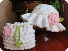 Adorable!  I can imagine a light pink or light green Easter dress to go with this! http://www.etsy.com/shop/toocutecrochet (for pattern)