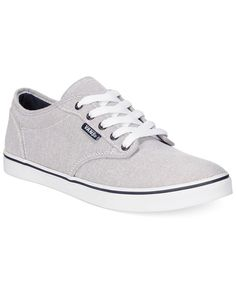 Vans Gray And White