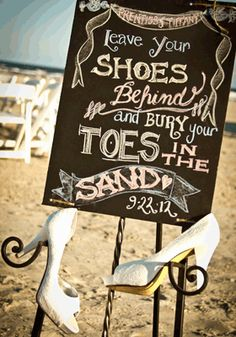 Beach wedding ceremony shoes