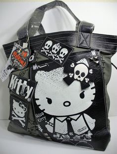 36e7810f5a Loungefly Hello Kitty Angry Punk Kitty Reversible Tote Bag Purse Sanrio New   Loungefly  TotesShoppers