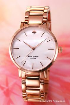 KATE SPADE Kate spade Womens watch Gramercy ( Gramercy ) White Pearl x rose gold 1YRU0003