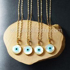 WT-N535 Beautiful tiny evil eye charm necklace fashion gold