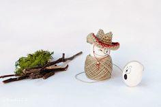 #Pasqua: Cappello da cowboy all'uncinetto per un uovo : islaura