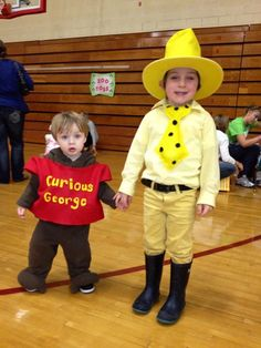 curious george and the man in the yellow hat halloween costume brothers - Halloween Costume For Brothers