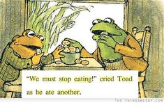 We must stop eating cried toad as he ate another