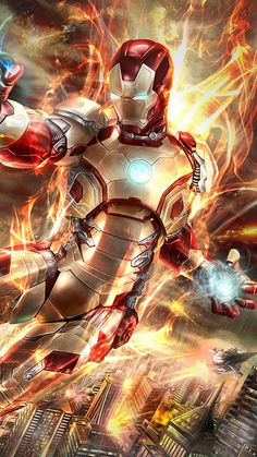 Iron Man Fire Blaster iPhone Wallpaper - iPhone Wallpapers