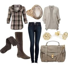 Flannel shirt glam Polyvore