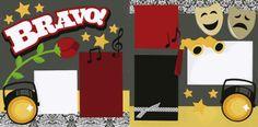 Scrapbook Layout - School Functions - Bravo!