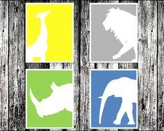 Safari Nursery Art 8x10 Prints by Ceramicshed on Etsy, $30.00