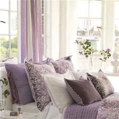 Clearance - Designers Guild Yuzen Damson King Duvet by Designers Guild Bedding. Decor, Comforter Sets, Beautiful Bedrooms, Serene Bedroom, Home Decor, Bed, Interior Design, Shabby Chic Bedding, Bed Comforter Sets