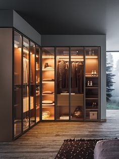 Lacquered wood and glass wardrobe MILANO By PIANCA Source by nicolasvkrenz room design Wardrobe Room, Wardrobe Design Bedroom, Closet Bedroom, Modern Wardrobe, Corner Wardrobe Closet, Modern Closet, Closet Rod, Classic Wardrobe, Closet Space