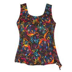 Wear Your Own Bra Plus Size Swimwear Top - Day Dreaming Tangerine