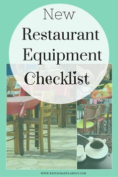 List of everything you need to open a new restaurant