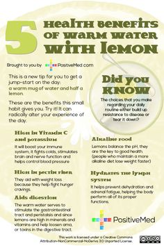 Health Benefits of Warm Water with Lemon