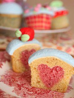heart in a cupcake!