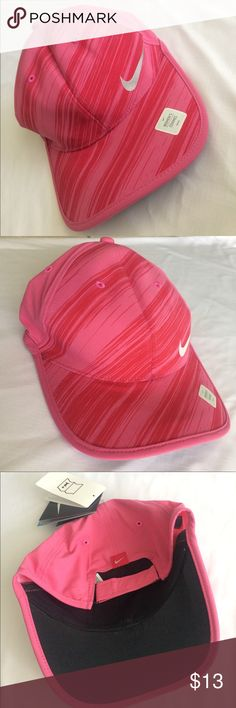 Pink Nike Golf Hat I got this lovely Nike golf hat as a gift but I already have one identical to it! It's super light weight and has the adjustable velcro strap on the back. I've never worn it and it still has the tags! Nike Accessories Hats