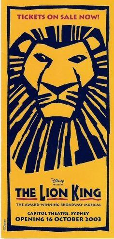 The Lion King - Capitol Theatre, Sydney, Australia
