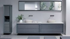 2019 Modern Double Sink Bathroom Vanity Cabinets - Popular Interior Paint Colors Check more at http://1coolair.com/modern-double-sink-bathroom-vanity-cabinets/