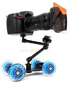 Mini desktop camera rail car table dolly video slider track for d5100 d7000 d7100 60d 5dii 5diii 7d DSLR accessories *** ** AMAZON BEST BUY **
