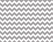 Riley Blake Small Chevron Stripes Gray 1 inch , Designer Fabric by the Yard