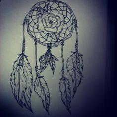 Dream catcher tattoo design I still have yet to do :)