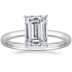 Houston Diamond District 1 Carat GIA Certified White Gold Solitaire Emerald Cut Diamond Engagement Ring Ct G-H Color, Clarity) Gold Band Engagement Rings, Emerald Cut Diamond Engagement Ring, Emerald Cut Diamonds, Diamond Cuts, Solitaire Diamond, Morganite Ring, 1 Carat, Gallery, Clarity