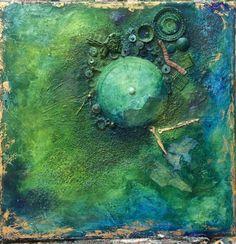 Abstraktes Gemälde, Mixed Media, Unikat