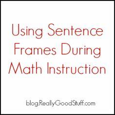 Using Sentence Frames During Math Instruction