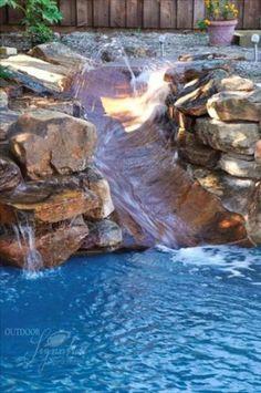 75 Creative Pool Ideas---this slide looks fun Outdoor Pool, Backyard Pools, Indoor Pools, Pool Decks, Pool Landscaping, Pool Remodel, Water Slides, Pool Slides, Dream Pools
