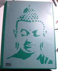 Inspire your inner spirit and help yourself attain the feeling of Zen by stencilling Buddha in your meditation room with Ideal Stencils - http://www.idealstencils.co.uk/buddha-stencil-1984-p.asp