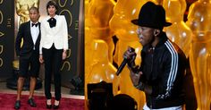 Worst Dressed? Pharrell Williams does shorts on the Oscars red carpet.