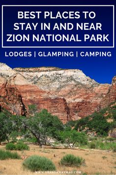Where to stay in Utah's most visited national park. 20 best hotel, airbnb, glamping and camping options in or near Zion National Park. | Up and Away Adventure Travel Magazine #Zion #ZionNationalPark #NationalParks | zion utah | zion camping | zion national park camping | zion national park utah | zion national park with kids | zion national park hotels | zion national park honeymoon | zion national park lodging | lodging near zion national park | zion national park glamping | zion lodge Zion Camping, Camping Guide, Zion National Park Lodging, Places To Travel, Places To See, Zion Lodge, Hotel Airbnb, Zion Utah, Best Rv Parks