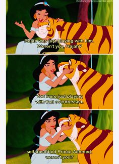 Discovered by gingerbread dress. Find images and videos about disney, jasmine and aladdin on We Heart It - the app to get lost in what you love. Old Disney, Disney Fun, Disney Magic, Disney Couples, Disney Stuff, Aladdin 1992, Aladdin Movie, Aladdin Quotes, Disney Jokes