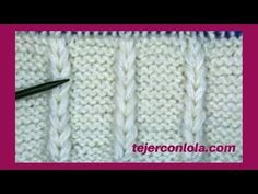 PUNTO A DOS AGUJAS ESPIGAS VERTICALES - YouTube Knitting Stitches, Knitting Yarn, Diy And Crafts, Arts And Crafts, Golf Club Covers, Block Of The Month, Cross Stitching, Stitch Patterns, Hand Weaving