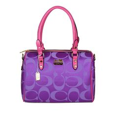 #CoachFromAbove Coach Madison Logo Medium Purple Luggage Bags DKG