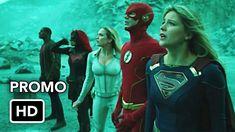 "Crise da DCTV no crossover de terras infinitas ""Parte quatro e cinco"" Pr. Fantasy Tv Shows, Superman News, John Constantine, Infinite Earths, Tom Ellis, Batwoman, Web Series, Man Of Steel, Season 8"
