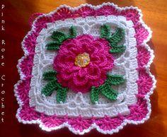 Crochet Rose Potholder - Wendy Schultz via Sharin Ware onto Crochet.