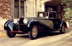 A black and silver Bugatti Type 41 Coupe de Ville Binder