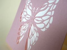 Thank You card Papercut Butterfly by MamaTita on Etsy, $4.00