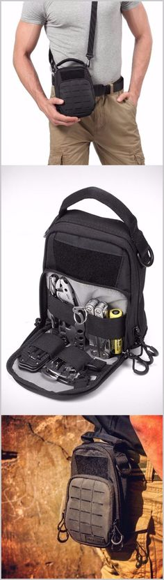 Nitecore NDP10 EDC Tactical Pouch with Molle System and Patch area - Everyday Carry Pouch Organizer